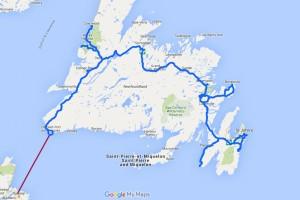 Route Neufundland