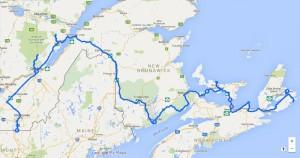 Route Atlantische Provinzen und Québec