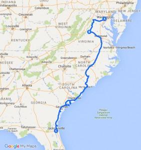 Route Washington und der Alte Süden