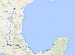 Route Mexiko - Norden und Mitte