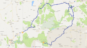 Route Utah und Arizona